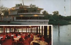 The Susie S. Liner and Shot of Interior Dining Room at the Stillwood Resort in Lakeport, CA Postcard