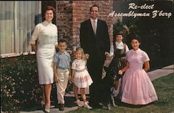 Edwin L. Z'berg and family, Assemblyman re-election Postcard
