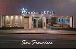 Windsor Hotel San Francisco Ca Postcard