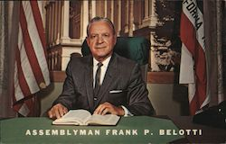 Re-elect Assemblyman Frank P. Belotti, Second District Postcard