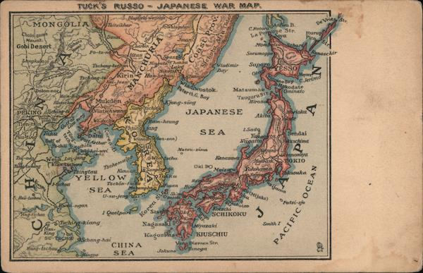 Tuck's Russo - Japanese War Map Maps