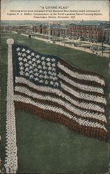 Living Flag at the Naval Training Station, Great Lakes, Illinois