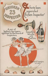 You Have Been Appointed Chicken Inspector Postcard