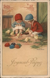 Joyeuses Paques (Happy Easter) Postcard