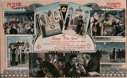Jewish New Year, Multi-View Postcard