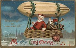 Greetings to one and all. Merry Christmas Postcard