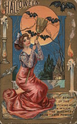It's best beware of the witching hour in which the witches show their power Postcard
