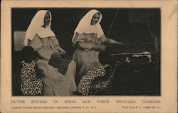 Dutch sisters in India and their spotless charges. Postcard