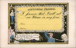 Juvenile Pledge to abstain from tobacco use Postcard