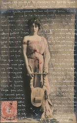 Woman with a Lyre Postcard