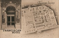 The Franciscan Hotel Treasure Island Map Postcard