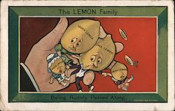 The Lemon Family being rudely passed along Postcard