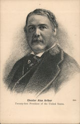 Chester Alan Arthur. Twenty-first president of the United States Postcard