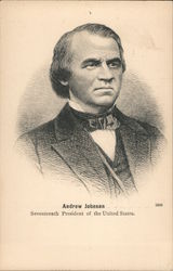 Andrew Johnson seventeenth President of the United States Postcard