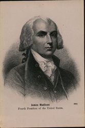 James Madison fourth President of the United States. Postcard