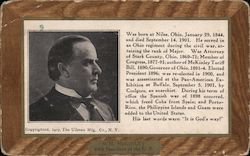 Wm. McKinley biography and photo 1907 Postcard