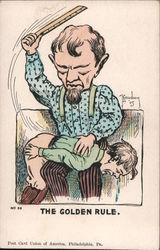The Golden Rule (man spanking a child with a ruler)