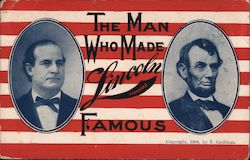 The man who made Lincoln Nebraska Famous. Postcard