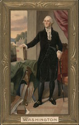George Washington, Full Length Portrait With Books Postcard