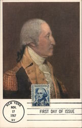 Portrait of George Washington by Joseph Wright. Postcard