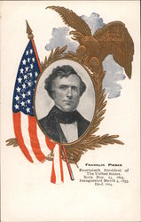 Franklin Pierce, Fourteenth President of the United States Postcard