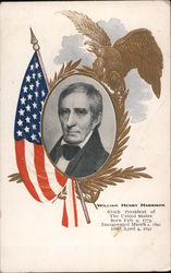 Portrait of United States President William Henry Harrison Postcard