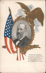 James A. Garfield, Twentieth President of the United States Postcard