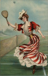 Lady playing tennis