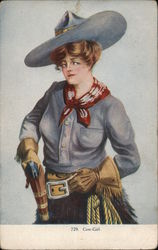 Cow-Girl Postcard