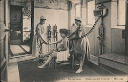 Aix-les-bains Etablissement Thermal - Massage. Nude woman given massage by nurse Postcard