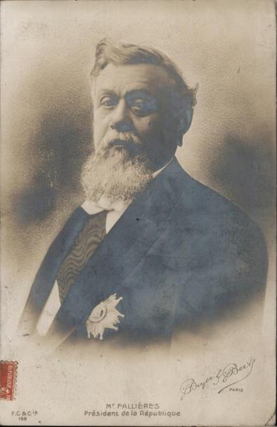 M. Fallieres, Presidente de la Republique, 1909 France