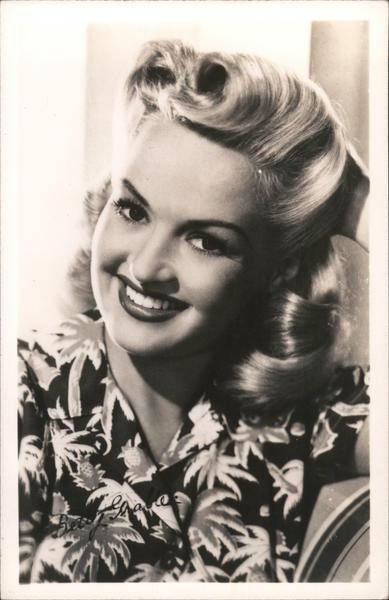 Betty Grable in Hawaiian Shirt Actresses