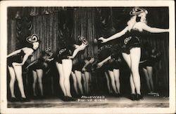 Hollywood Pin-up Girls Postcard