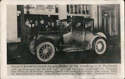 Record Breaking Buick Coupe, Model 21-46, Portland Buick dealership Postcard