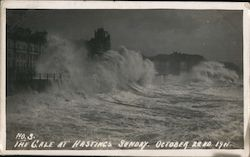 The Gale at Hastings Sunday, October 22nd, 1911