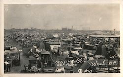 Official B.E.F. Hooverville Postcard