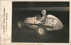 Official photo Bay Cities Racing Association Marvin Burke car#154 Postcard