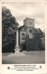 Federated Church Built in 1861 Postcard