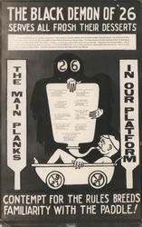 The Black Demon of '26 Serves All Frosh Their Desserts (Stanford U. fraternity hazing) Postcard