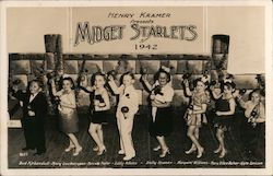 Henry Kramer presents Midget Starlets of 1942 Postcard