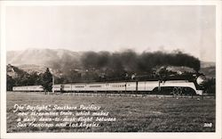 The Daylight Southern Pacific's new streamline train Postcard