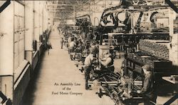 An Assembly Line of the Ford Motor Company, Rouge plant Postcard