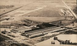 Dearborn Engineering laboratory and airport. Postcard