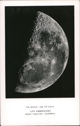 The Moon from Lick Observatory Postcard