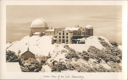 Winter View of the Lick Observatory Postcard