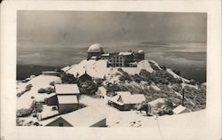 Observatory on mountain, buildings Postcard