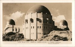 View From City Griffith Observatory Postcard