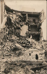 San Marco Building Ruins, Earthquake Postcard