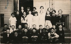 Boys and Girls school group photo Postcard