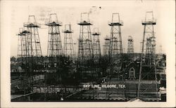 Sky Line - Oil Wells Postcard